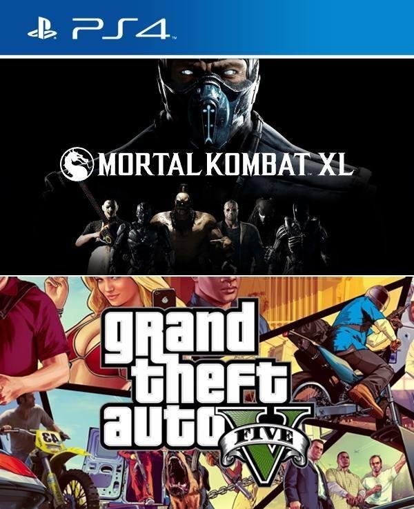 2 Juegos En 1 Mortal Kombat Xl Mas Gta V Ps4 Primaria Juegos